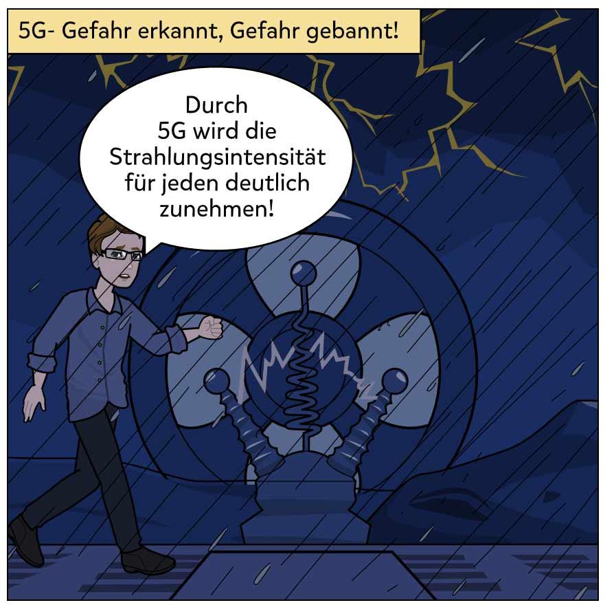 5G Comic Gefahr erkannt - Gefahr gebannt