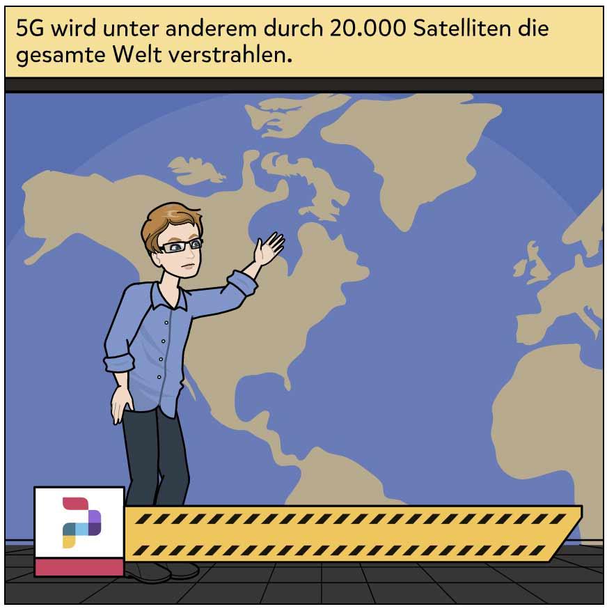 20000 5G Satelliten gesamte Welt verstrahlen.